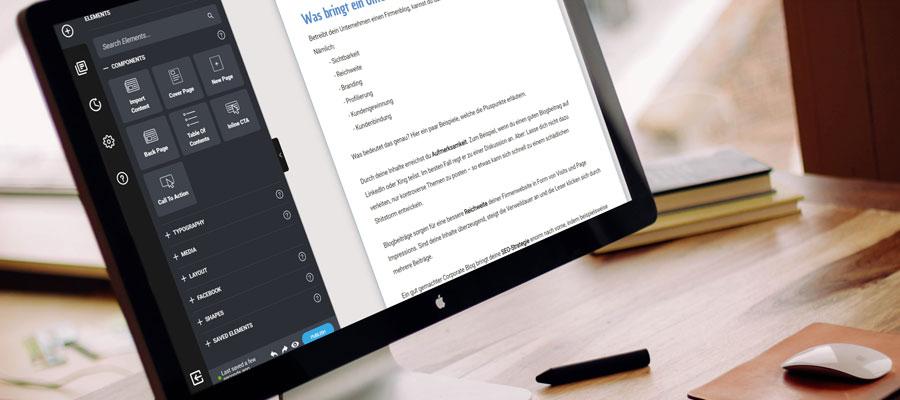 Whitepaper erstellen - Tool Designrr (Bild: Mockdrop.io)
